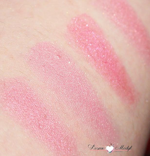 Makeup Revolution, serduszkowe róże do policzków I Heart - Iced Hearts oraz Blushing Heart | Swatche