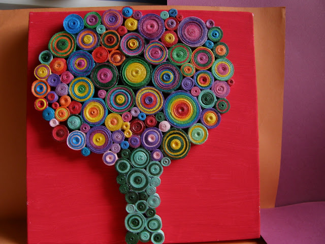 Colorful Tree - tablou copac quilling circul magic