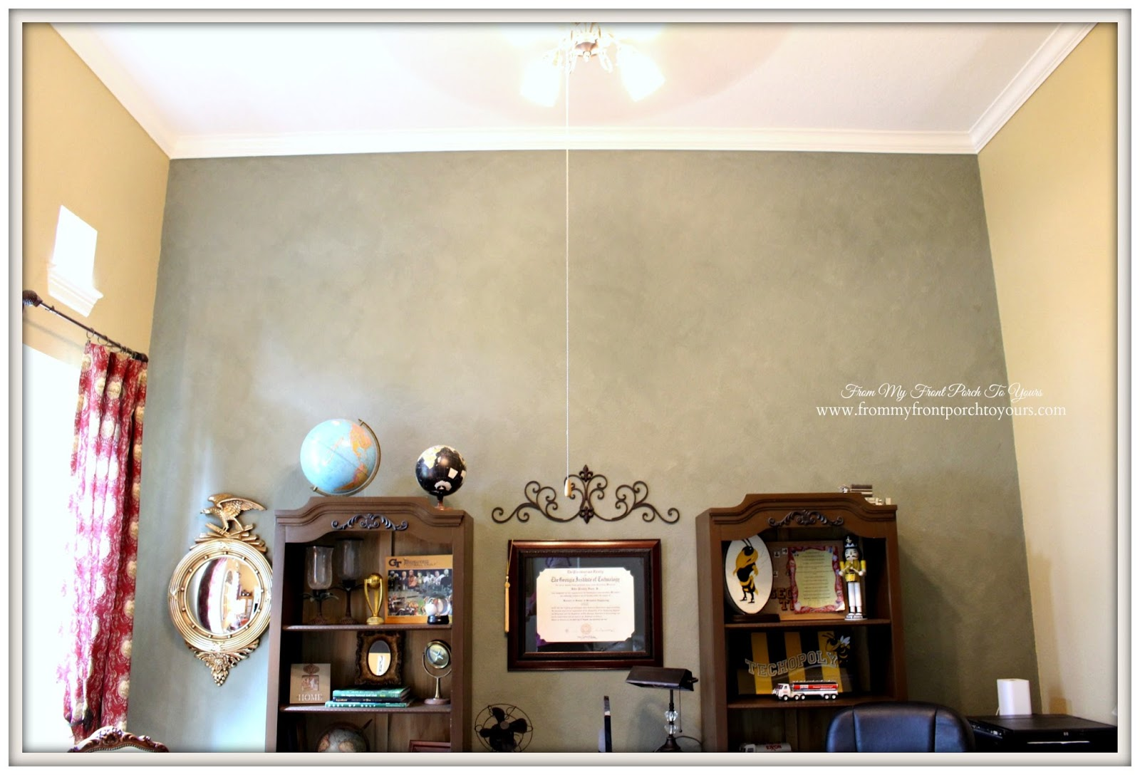 country home office. Tall Ceilings-French Country Home Office- From My Front Porch To Yours Office