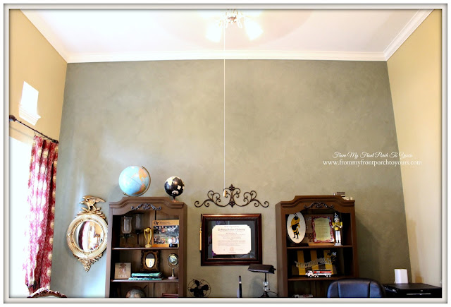 Tall Ceilings-French Country Home Office- From My Front Porch To Yours