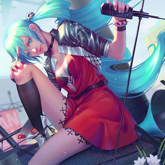 Punk Rock Miku Wallpaper Engine