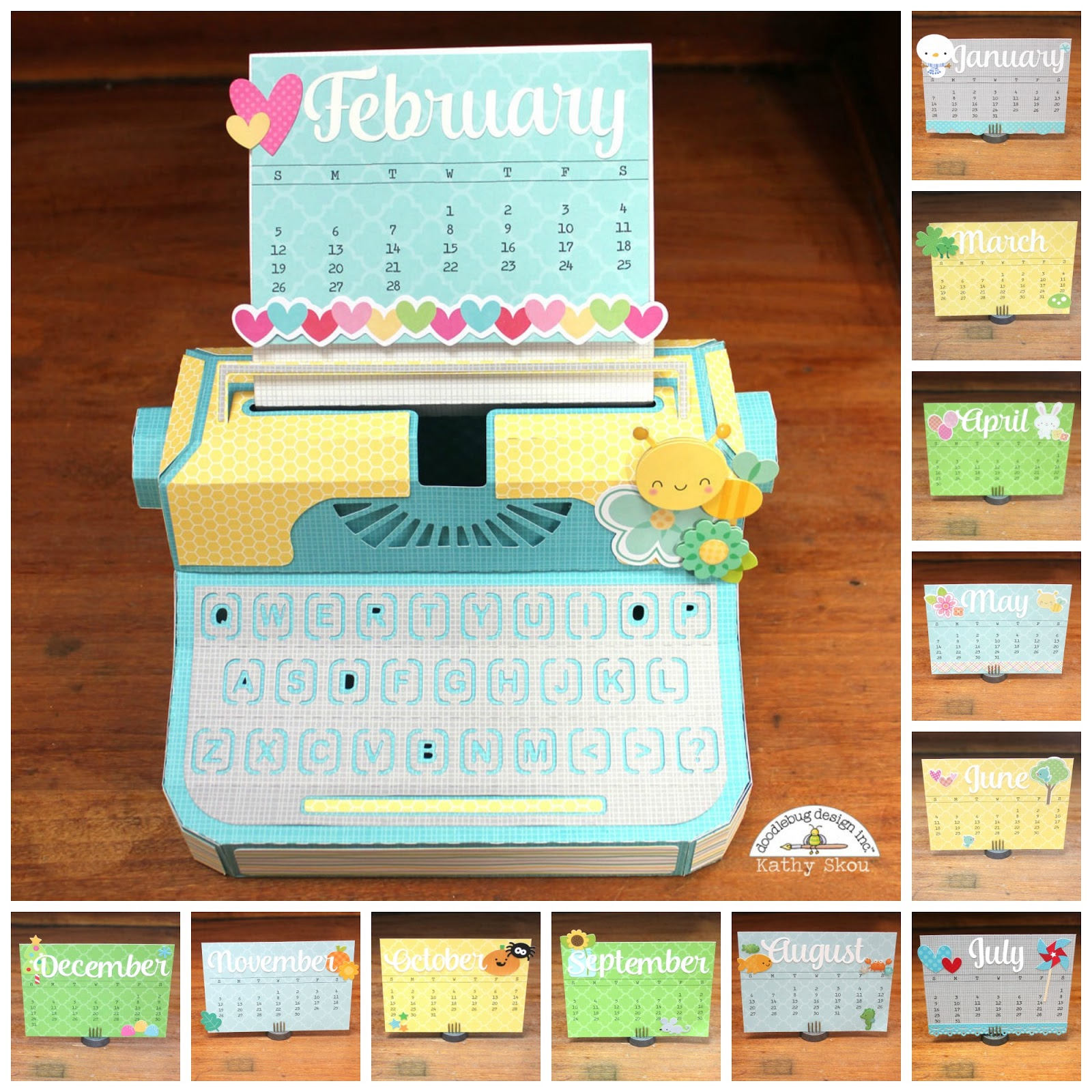 Calendar Head Design : Doodlebug design inc calendar challenge fun d
