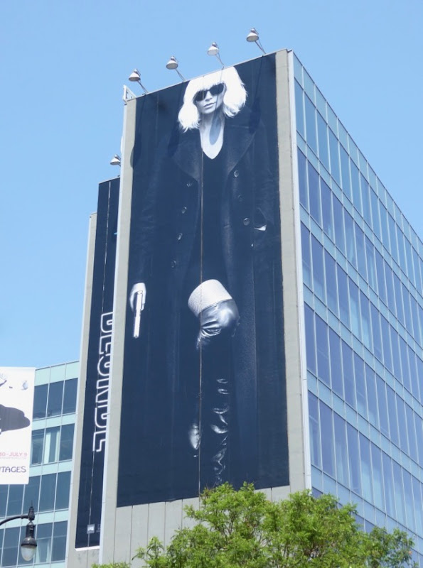 Giant Atomic Blonde film billboard