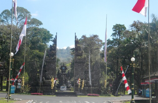 Entrance Gate of Kebun Raya Bedugul - Botanic Garden Conservation International Bali (BGCI) Indonesia - Bedugul Botanical Garden & Bali Treetop