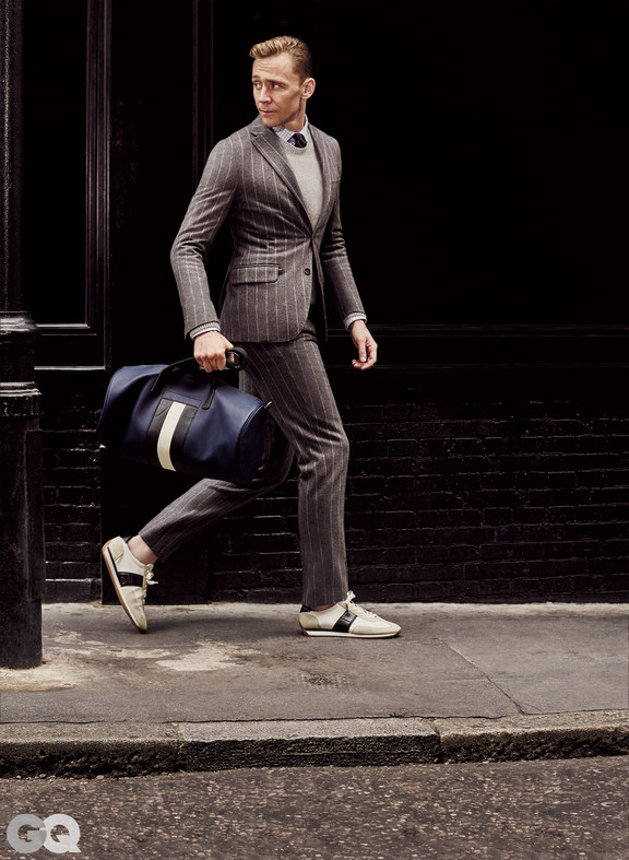 987934fc3afa2 The editors of GQ chose Chalk Stripe suits as the fall must-have for  professional men. The photoshoot was styled by Kelly McCabe and grooming  was done by ...