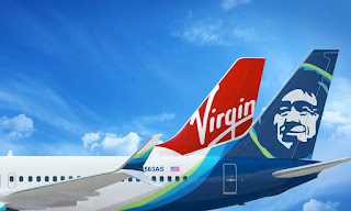 Alaska Airlines Virgin America merger graphic