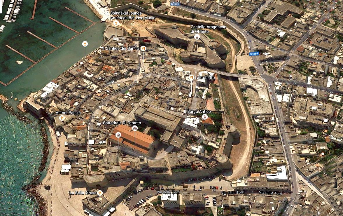Foto dall'alto del Borgo antico di Otranto