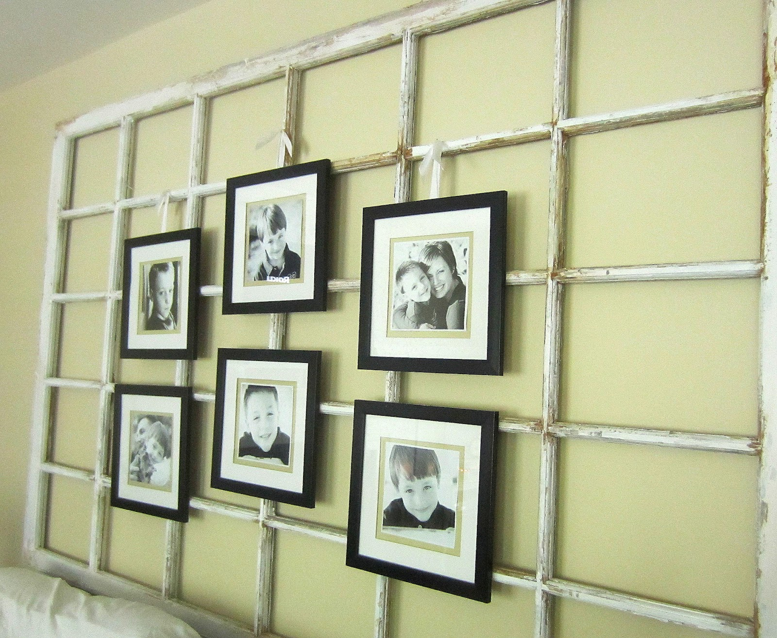 Down to Earth Style: {Old Window & Family Photos Display}