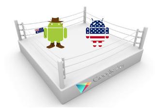 ما الفرق بين الحساب الأمريكي والعادي على جوجل بلاي Google Play