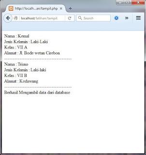Cara menampilkan data dari database ke halaman web menggunakan PHP MySql