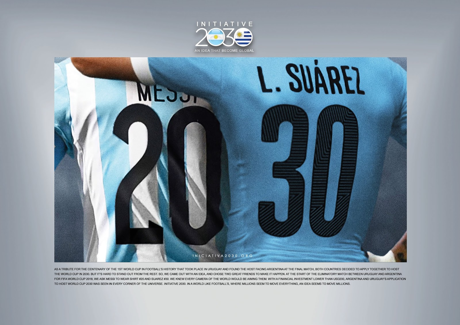 Lionel Messi and Luis Suarez Feature in Creative Argentina-Uruguay 2030  World Cup Bid 284d4567b