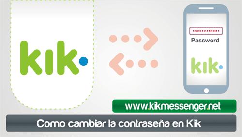 Como cambiar la contraseña en Kik