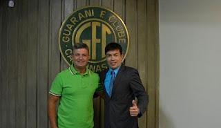 Treinador foi apresentado pelo Guarani