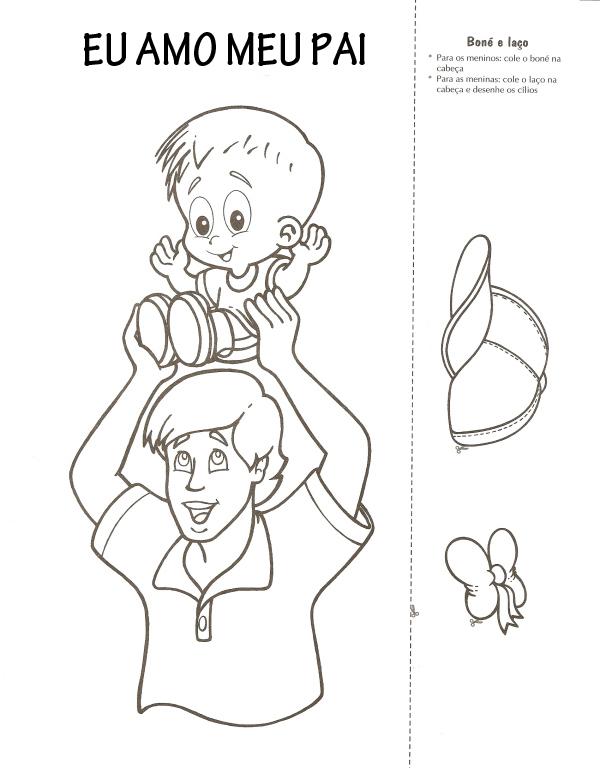 Artes da Catis: Dia dos Pais para colorir!