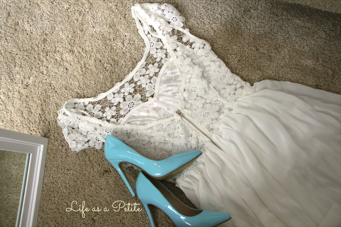 White Lace Dress - Life as a Petite