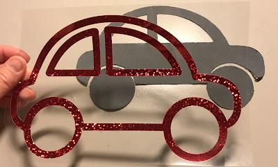 Tyg- och textilvinylapplikation  - utskuren design