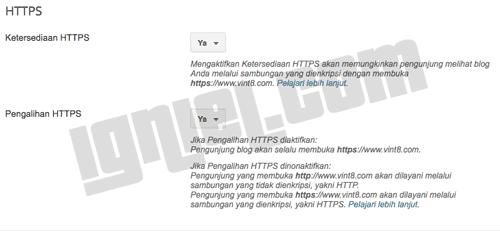 Cara Mengaktifkan HTTPS SSL di Blogger Gratis