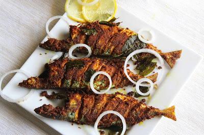 kerala fried ayala mackerel pan fried recipe crispy restaurant style fish recipes yummy malabar recipes tasty foods ayeshas kitchen