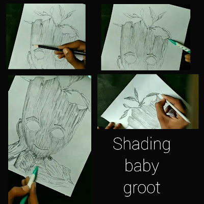 How to draw baby groot with pencils, step by step groot draw, kids drawing, baby groot drawing for begginers, baby groot sketches, baby groot pencil drawing, avengers endgame drawing, groot drawing for kids