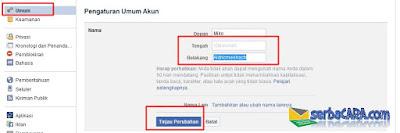 Cara Merubah Satu Nama Facebook