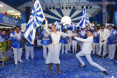 Comissão de frente da Portela ensaia na Hebraica