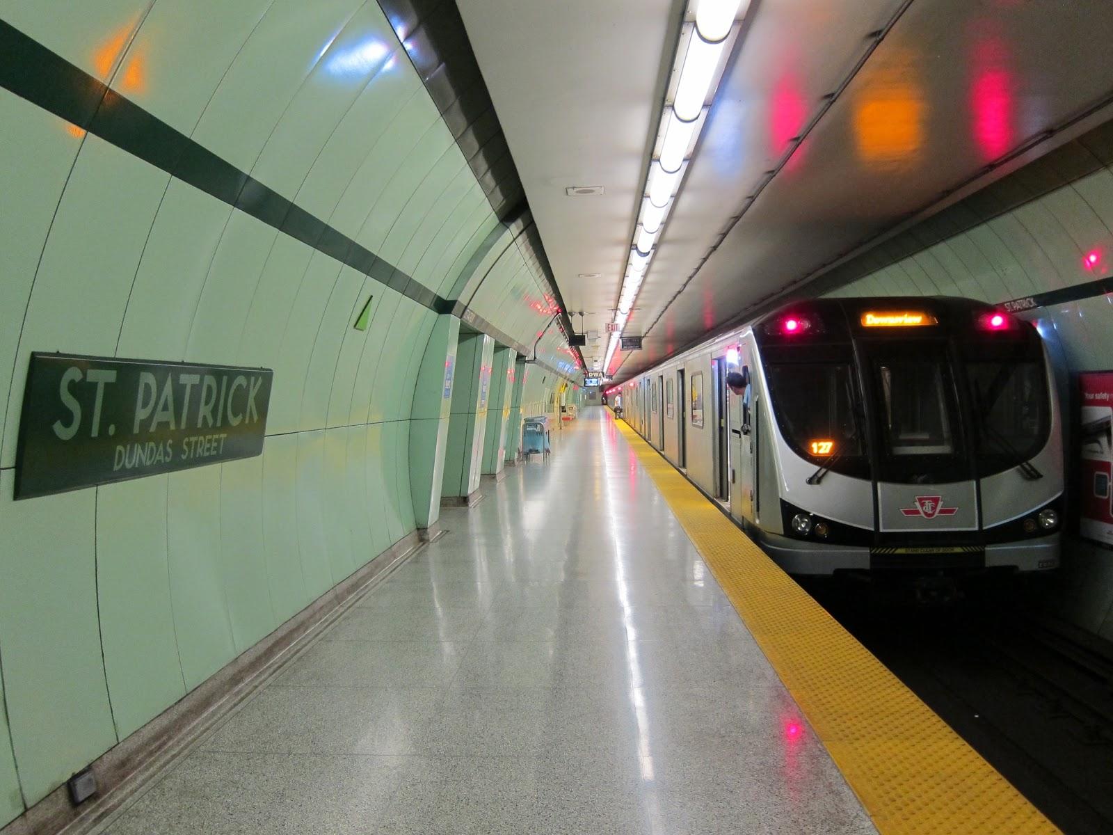 St. Patrick station platform