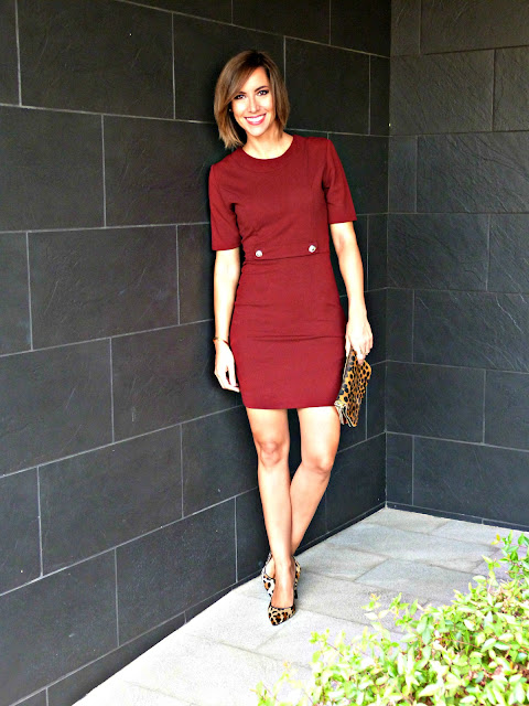 Fitness And Chicness-Burgundy Fall Dress-1