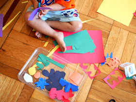 cut out your Matisse cut out shapes from construction paper