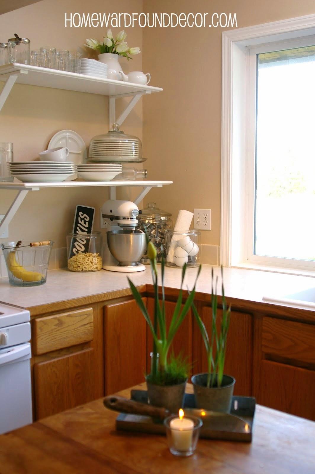 Diy Kitchen Cabinet To Shelf Makeover Homewardfound Decor