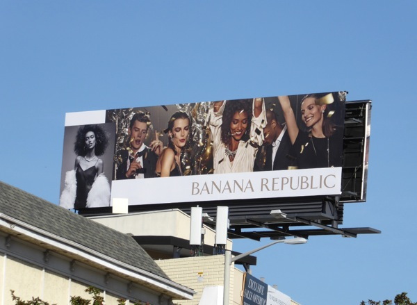 Banana Republic Holidays 2016 billboard Sunset Strip