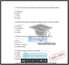 Contoh Soal UTS IPA SMP Kelas 7 Semester 1