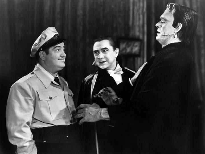 Lou Costello Bela Lugosi Dracula Frankenstein monster