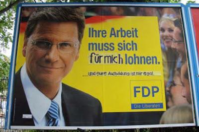 Lustige Wahlplakate der FDP - Arbeit lustig