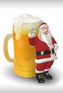 Papa Noel (Santa Claus) trae como regalo cerveza.