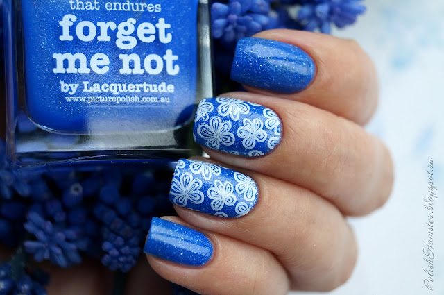 "Picture Polish ""Forget me not"" и стемпинг Dana stamping plate 2"