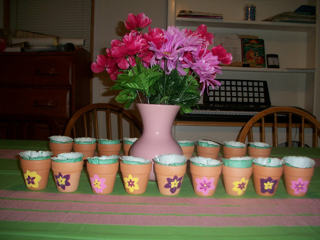 painted pots, candy dishes, favors