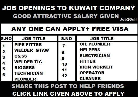 LARGE JOB RECRUITMENT TO KUWAIT OIL COMPANY- URGENT
