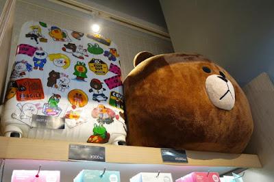Line Friends Luggage in Harajuku Shibuya Japan
