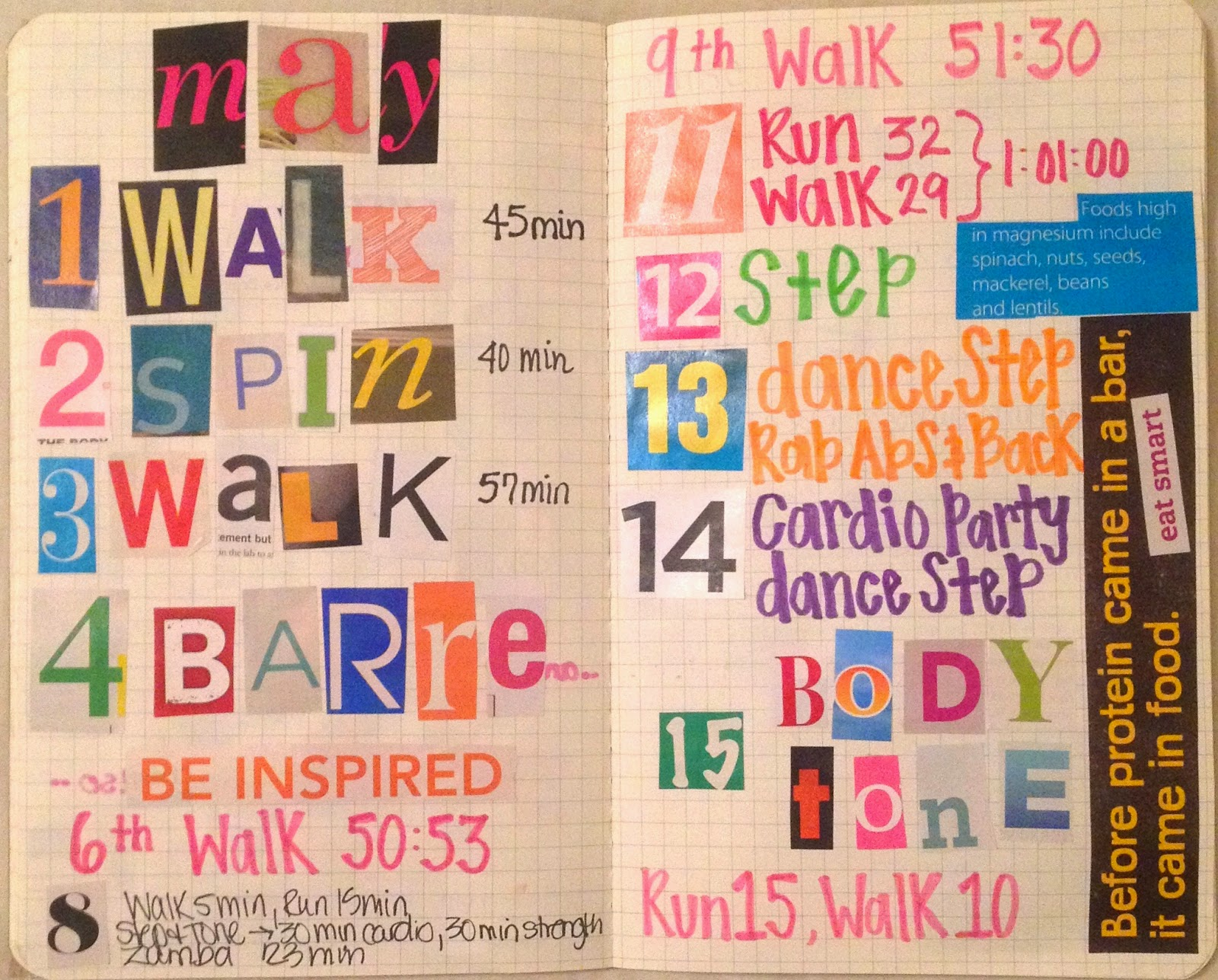 rachel mims artist ms art therapy fitness journal pages