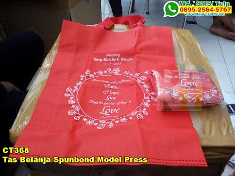 Harga Tas Belanja Spunbond Model Press