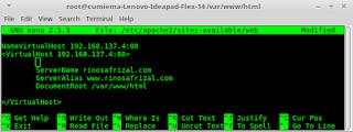 Instalasi dan konfigurasi web server pada Linux