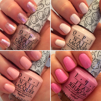 opi hello kitty swatch and review