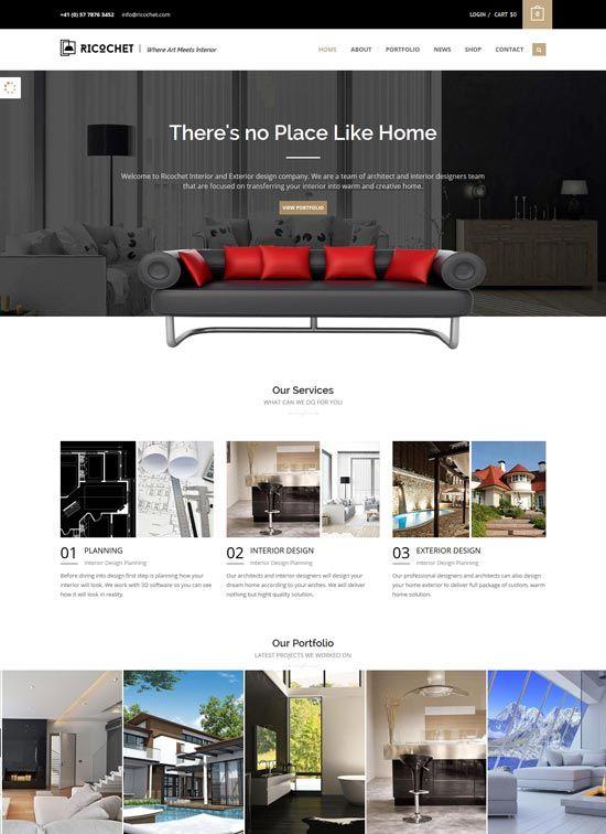 Interior design furniture website templates 2016 for Interior furniture website