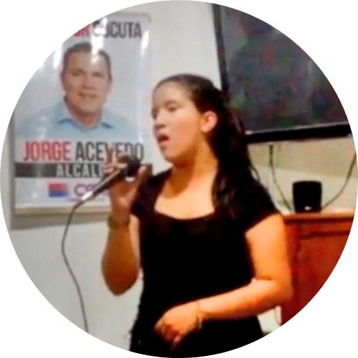 Cantante Ruddy Stéfany Torres Uribe en evento social en Cúcuta « FélixContrerasTelevisión ☼ Corpofrontera, #CF