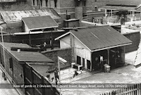Exercise yards in No.2 Division, Boggo Road Gaol, from guard tower, early 1970s.