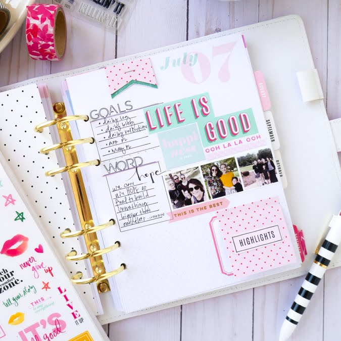 Document Everything. Heidi Swapp Color Fresh Memory Planner by Jamie Pate | @jamiepate for @heidiswapp