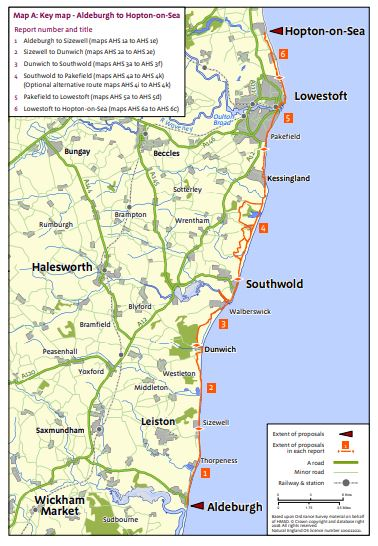 England Coast Path Proposals - Aldeburgh to Hopton
