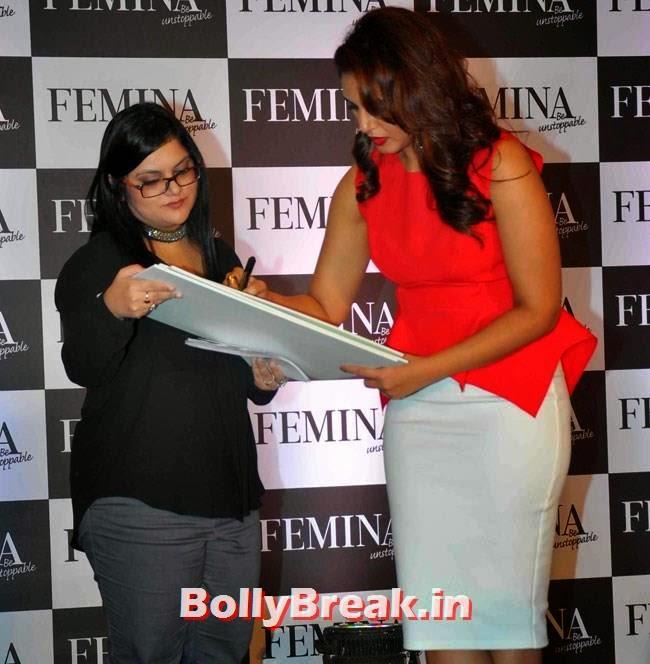 Huma Quereshi unveils Femina My Body My Rules, Huma Qureshi Pics in Red Top, White Skirt for Femina Magazine Launch