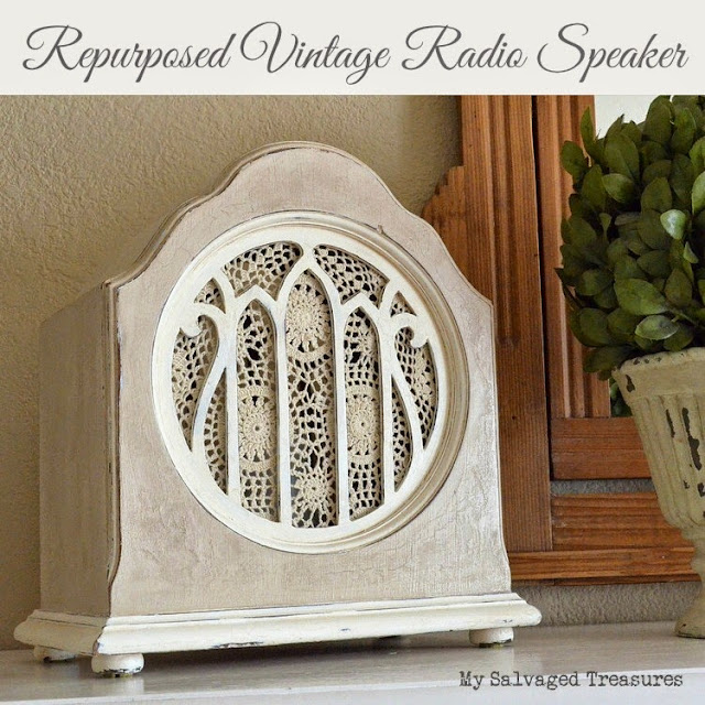 Repurposed Vintage Radio Speaker