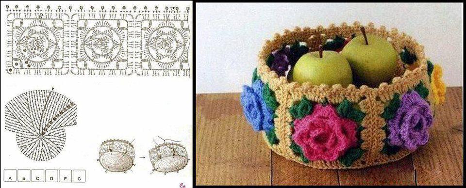 Patron Crochet Cesta